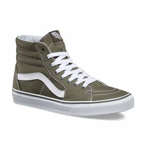 BRAND NEW VANS GREEN CANVAS HI TOPS!
